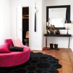 rosa svart inredning