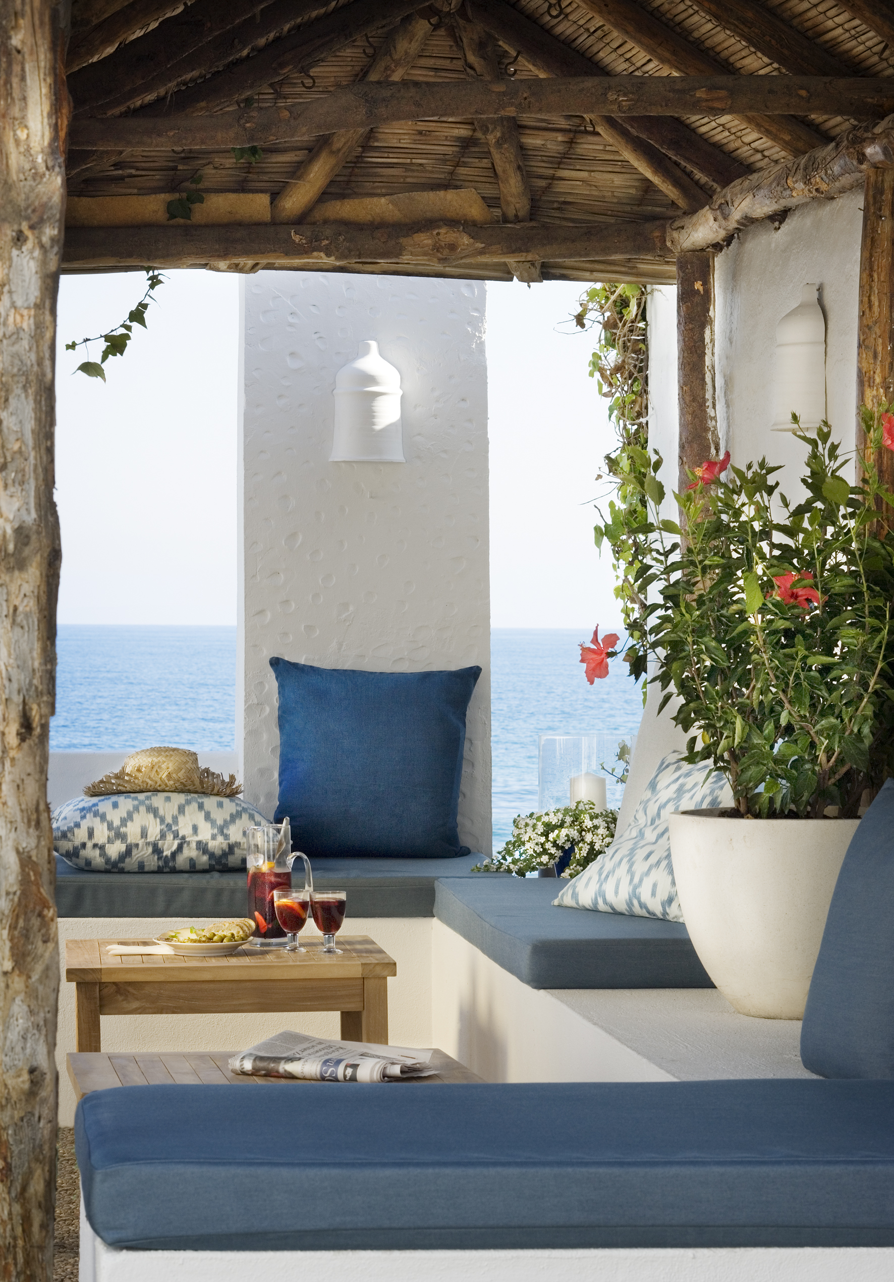 Loungek nsla altan inspiration inredning for Terrace party decoration ideas