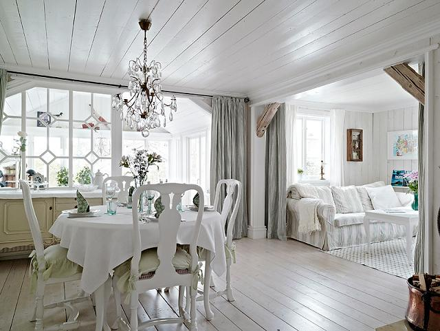 Inredning lantligt inspiration inredning Chic country house architecture with adorable interior design