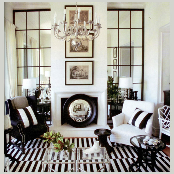 Inredning speglar inspiration inredning for Black and white interior decor
