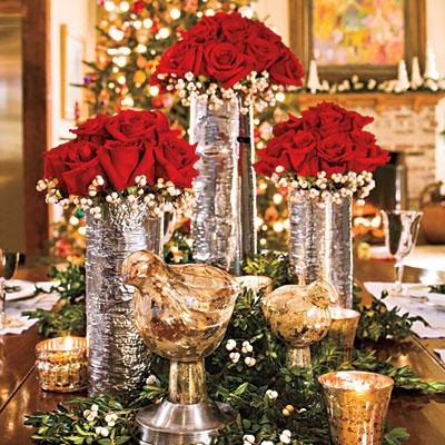 juldekoration till bordet
