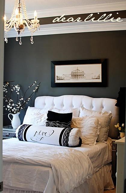 Inreda sovrum inspiration inredning - Black white and silver bedroom ideas ...