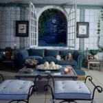 blått rum