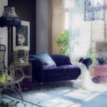 vardagsrum blå