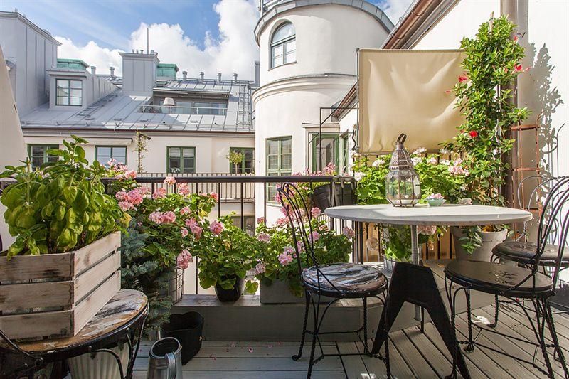 romantisk balkong